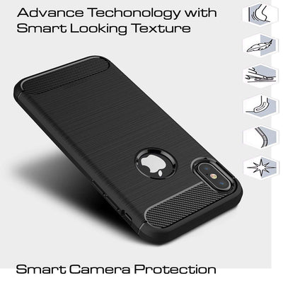 Shockproof TPU Rubber Protective case for iPhone X & Xs case