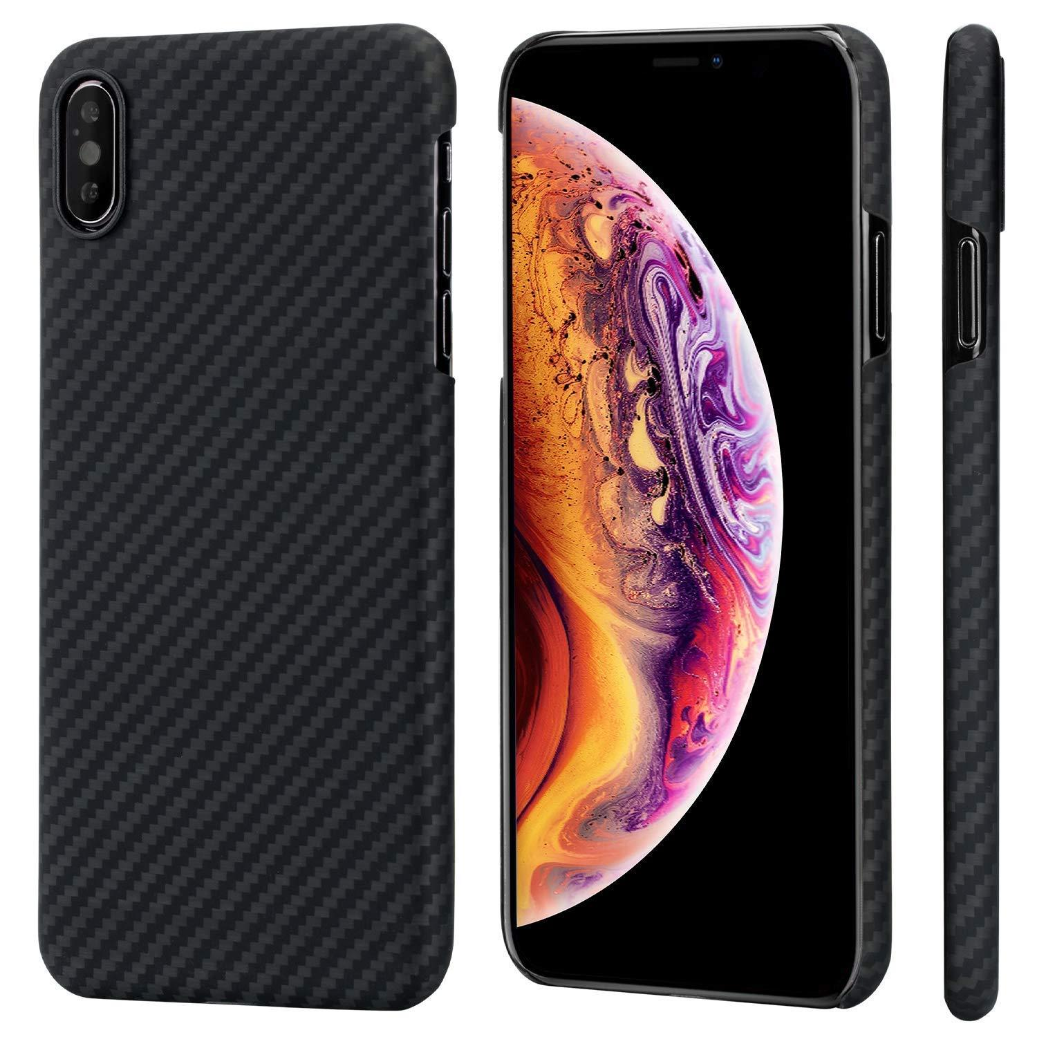 cheap for discount c6108 53993 Black Carbon Fiber iPhone X, XS Ultra Thin Case