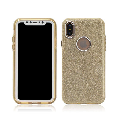 Shinning Glitter Sparkle Hybrid Soft iPhone X & Xs iPhone 10 (Gold,silver)