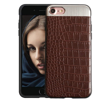Leather Pattern Thin Back Business Series Case Cover for Apple iPhone 7/ iPhone 8