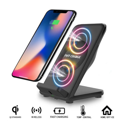 Fast Wireless Charger 2 Coil with Cooling Vent for All Qi Enabled Devices