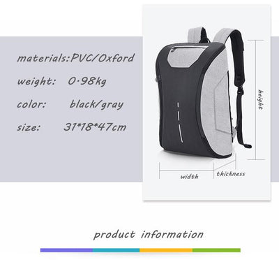 2018 Premium 180° USB Convertible Anti Theft Laptop Backpack