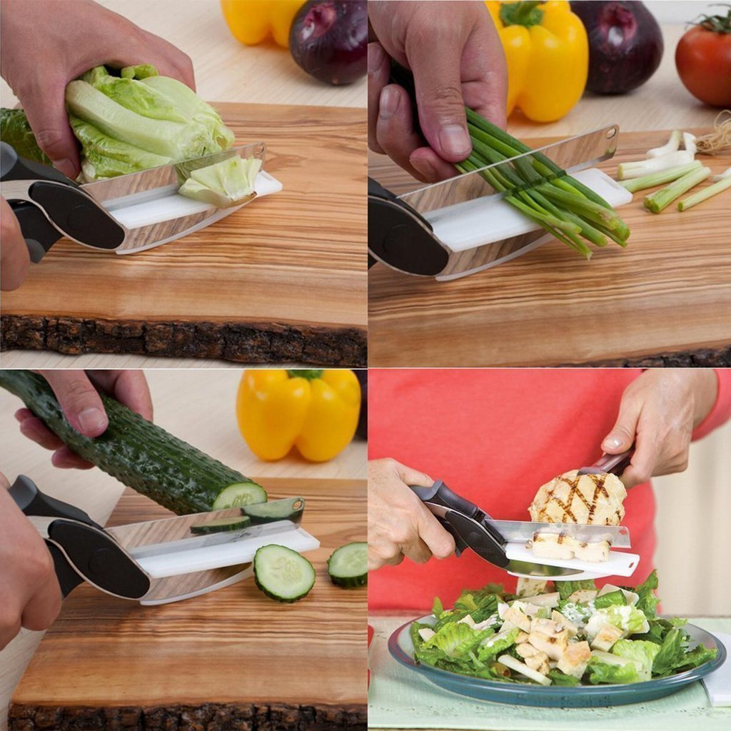 CLEVER CUTTER 2-IN-1 FOOD CHOPPER MULTI-FUNCTIONAL KITCHEN ...