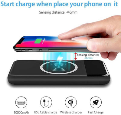 Wireless charging powerbank 10000 MAH with Display
