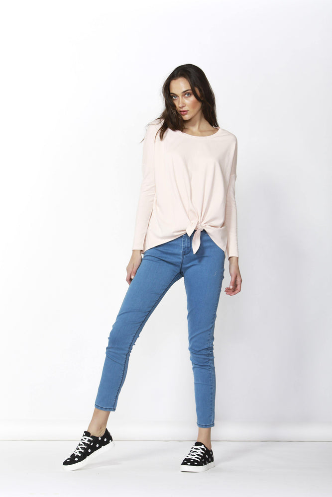 Betty Basics Willow Knot Top - Blush