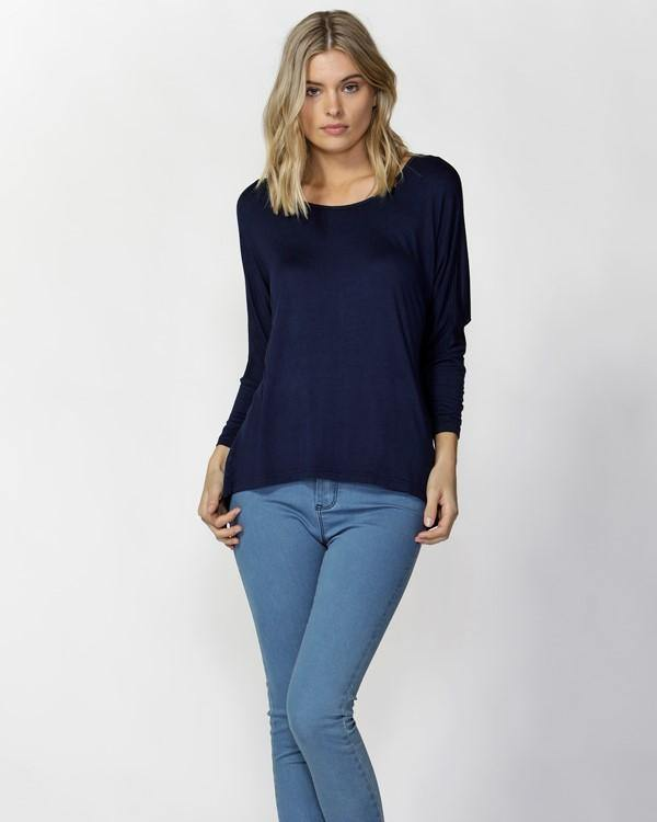 Betty Basics Milan Stretch Top - Navy