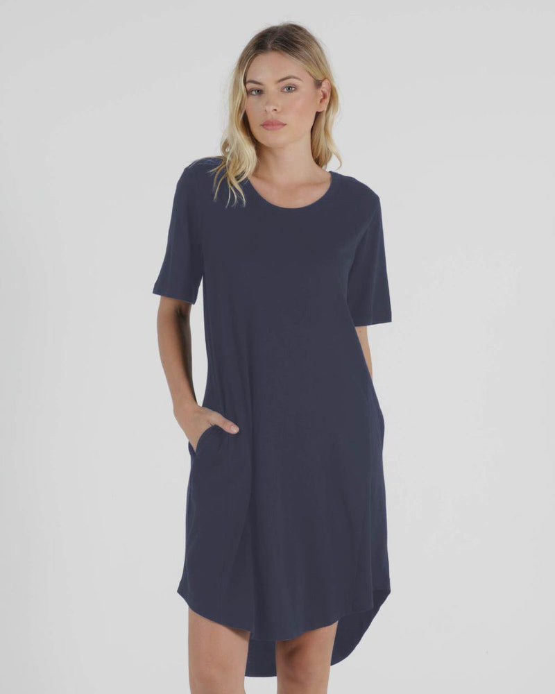 Betty Basics Nyree Dress - Indie Blue