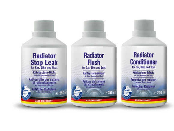 AUTOPROFI Radiator Kit Flush & Conditioner & Stop Leak Made In Germany