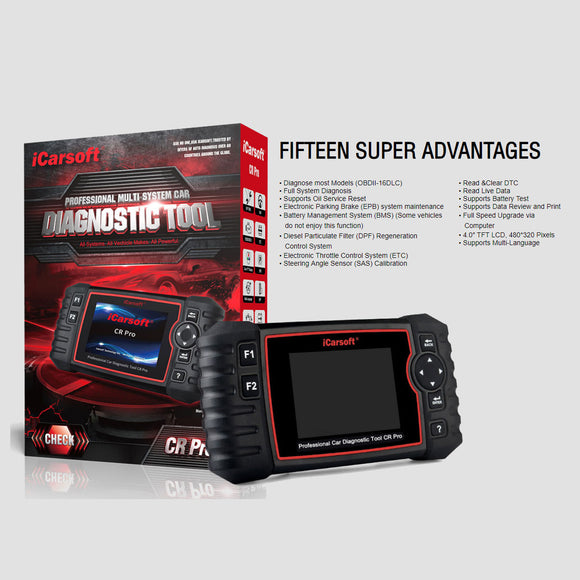 iCarsoft CR Pro Multi-System Professional Diagnostic Tool