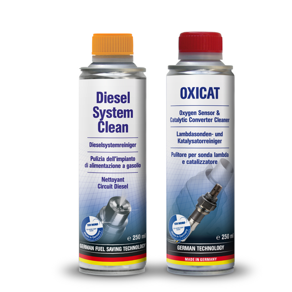 AUTOPROFI Oxicat Oxygen Sensor Cleaner + Diesel System Clean Kit Made in Germany