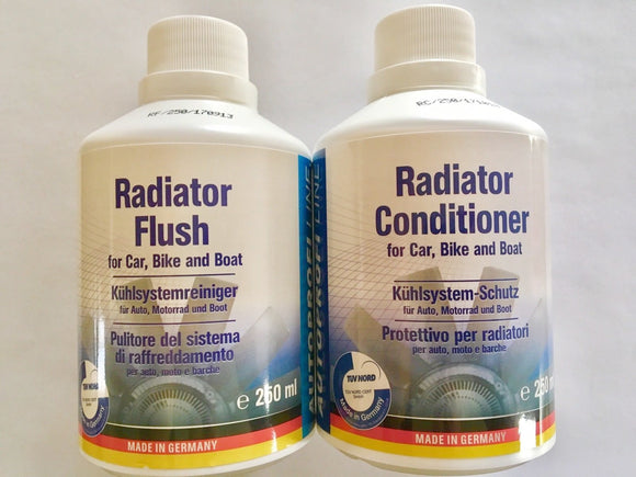 AUTOPROFI Radiator Flush 250ML & Conditioner - KIT Made In Germany TUEV Approved