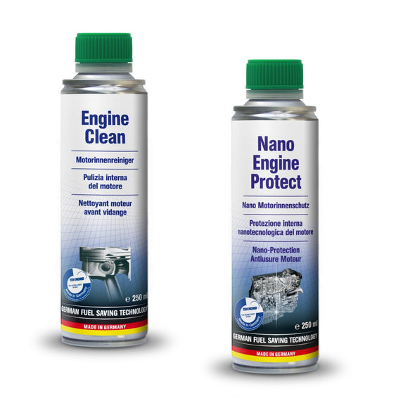Vehicle Parts & Accessories - AUTOPROFI Engine Clean 250ml & Nano Engine Protect - KIT Made In Germany