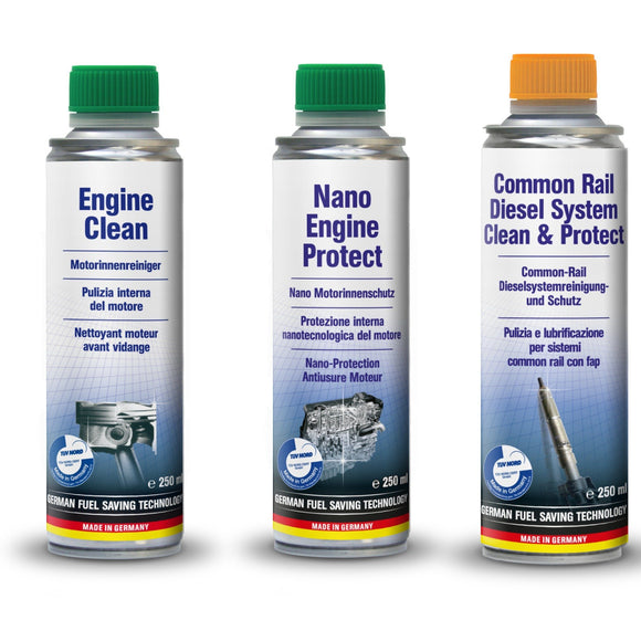 Vehicle Parts & Accessories - AUTOPROFI Engine Clean & Nano Engine Protect & Common Rail Diesel System Clean & Protect - KIT