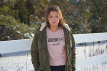 Load image into Gallery viewer, Adventure Awaits peach t-shirt