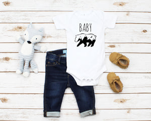 Baby Bear white infant onesie