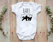 Load image into Gallery viewer, Baby Bear white infant onesie by Modern Trail