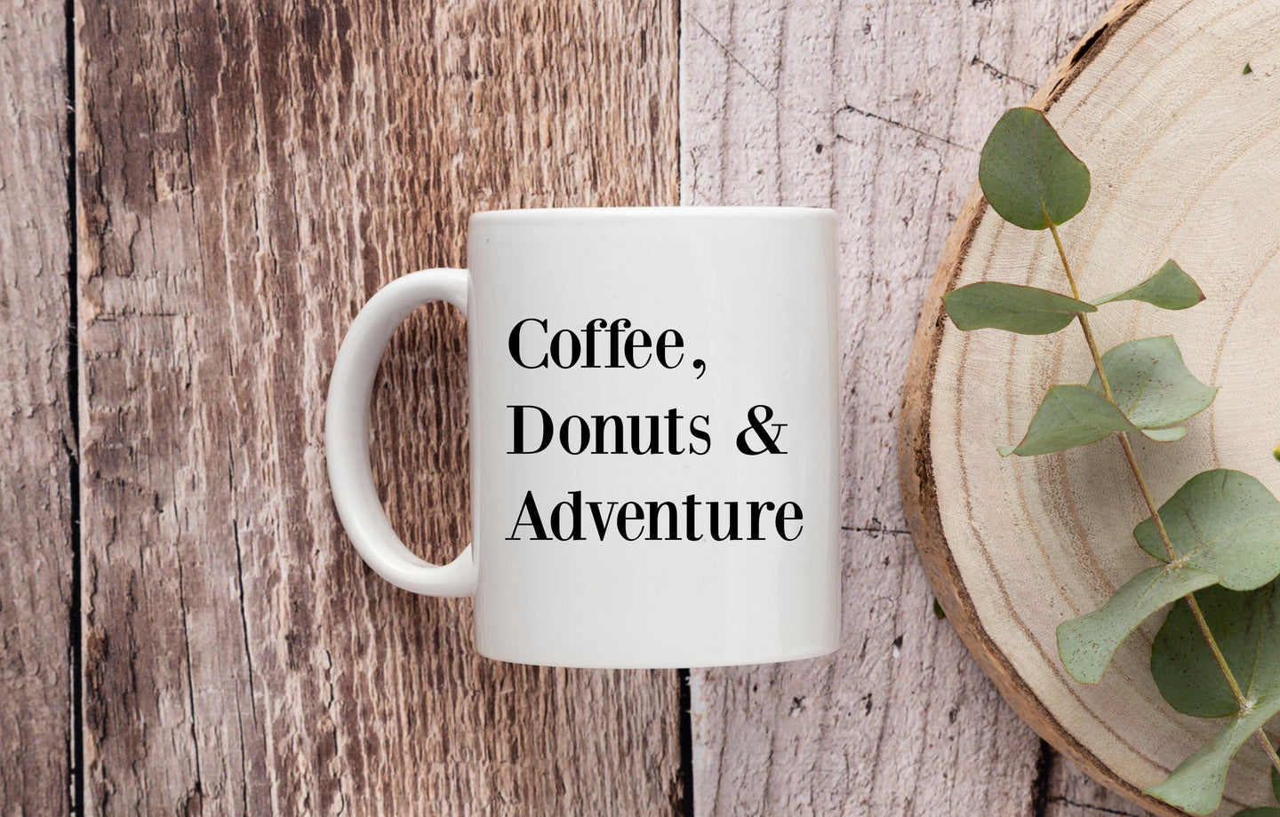 Coffee, Donuts & Adventure Mug