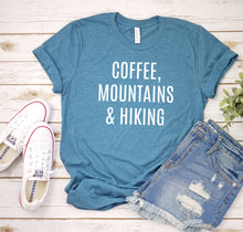 Load image into Gallery viewer, Coffee, Mountains & Hiking Tee