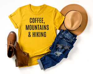 Coffee, Mountains & Hiking Tee