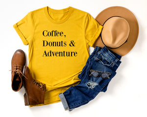 Coffee, Donuts & Adventure Tee