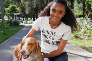 Donuts Dogs & Road Trips Tee