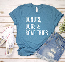 Load image into Gallery viewer, Donuts Dogs & Road Trips Tee