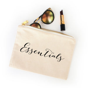 Essentials natural cotton canvas zippered cosmetic makeup bag from Modern Trail