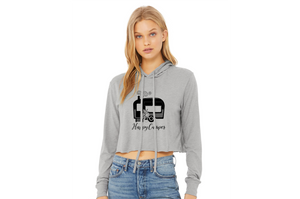 Happy Camper Women's Cropped Hoodie