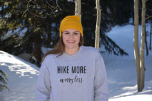 Load image into Gallery viewer, Hike More Worry Less Crewneck Sweatshirt