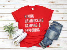 Load image into Gallery viewer, Hiking Hammocking Camping & Exploring Tee