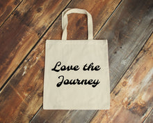 Load image into Gallery viewer, Love the Journey reusable cotton canvas natural tote bag by Modern Trail