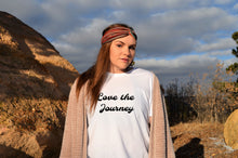 Load image into Gallery viewer, Love the Journey boho white tee shirt