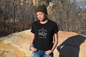 The Mountains are Calling and I Must Go black unisex tee