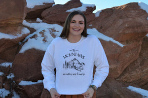 The Mountains are Calling and I Must Go Crewneck Sweatshirt