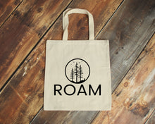 Load image into Gallery viewer, Roam natural cotton canvas tote bag | Modern Trail