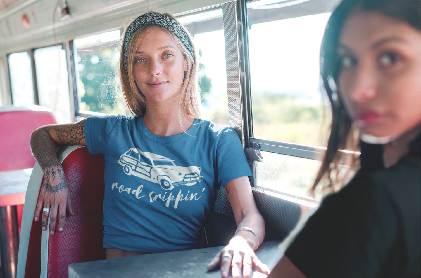 Road Trippin' teal tee by Modern Trail