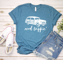 Load image into Gallery viewer, Road Trippin' teal tee by Modern Trail