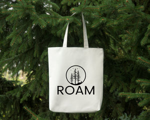 Roam white cotton canvas tote bag by Modern Trail