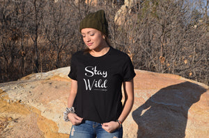Stay Wild black t-shirt