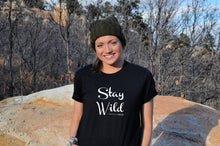 Load image into Gallery viewer, Stay Wild black t-shirt