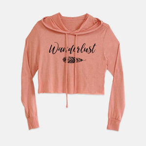 Wanderlust boho sunset cropped hoodie from Modern Trail
