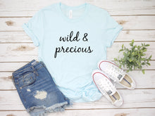 Load image into Gallery viewer, Wild & Precious Ice blue t-shirt