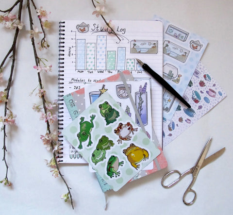 (Image) Notebook with sticker sheets.