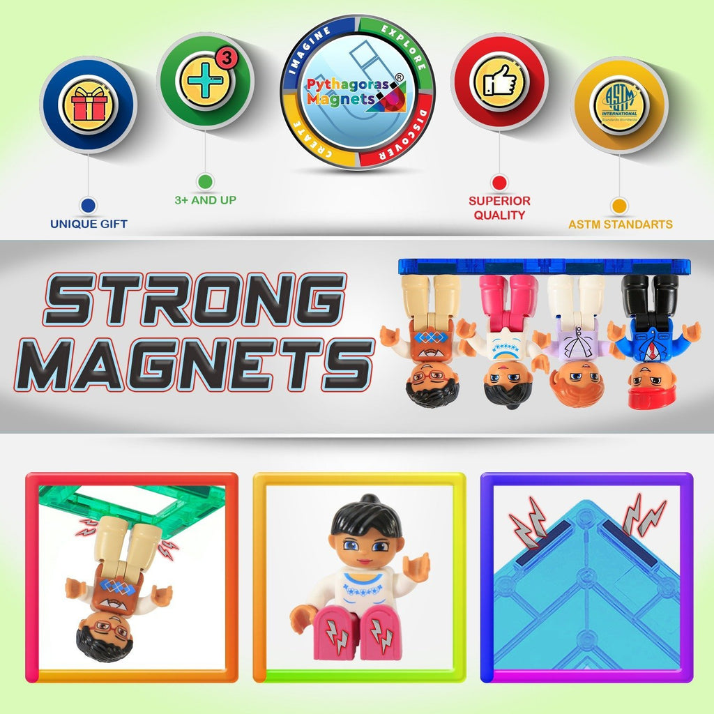 Magnetic Figures 4 Pack-Pilot Edition - Pythagoras-Magnets