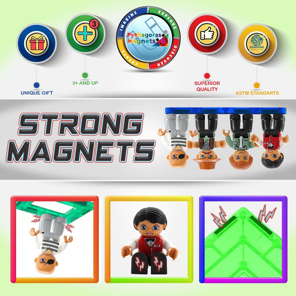 Magnetic Figures - 4 Pack-Bandit Edition. - Pythagoras-Magnets