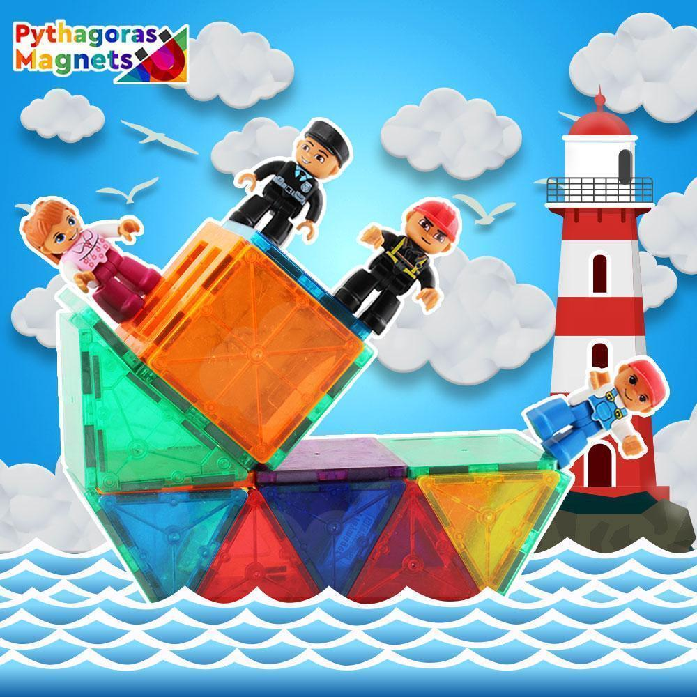 Magnetic Figures 4 Pack-Builder Edition. - Pythagoras-Magnets