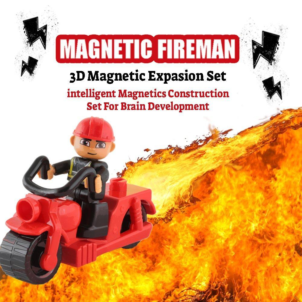 Mini Motorcycle, and Magnetic Firefighter Toy Edition - Pythagoras-Magnets