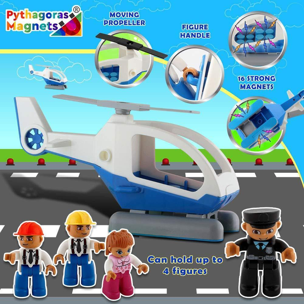 Entire Collection- Includes 4 Magnetic Figure Sets, Car, Helicopter, Motorbike, Plane Sets Editions. - Pythagoras-Magnets
