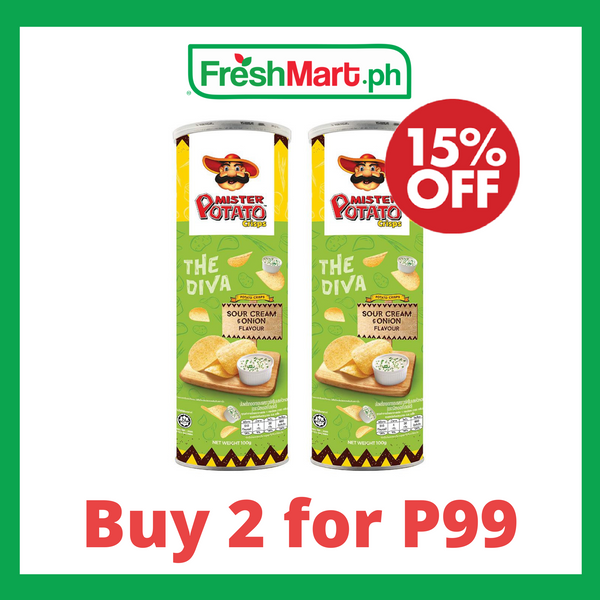 Promo: Mister Potato Crisps Sour Cream 100g - 2 for P99