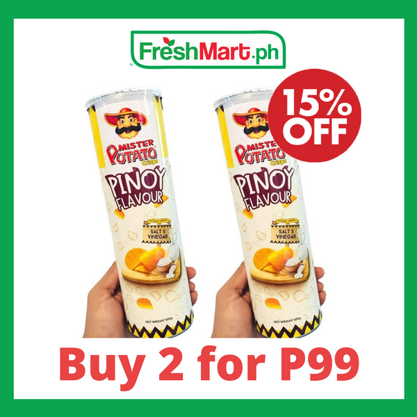 Promo: Mister Potato Crisps Salt and Vinegar 100g - 2 for P99